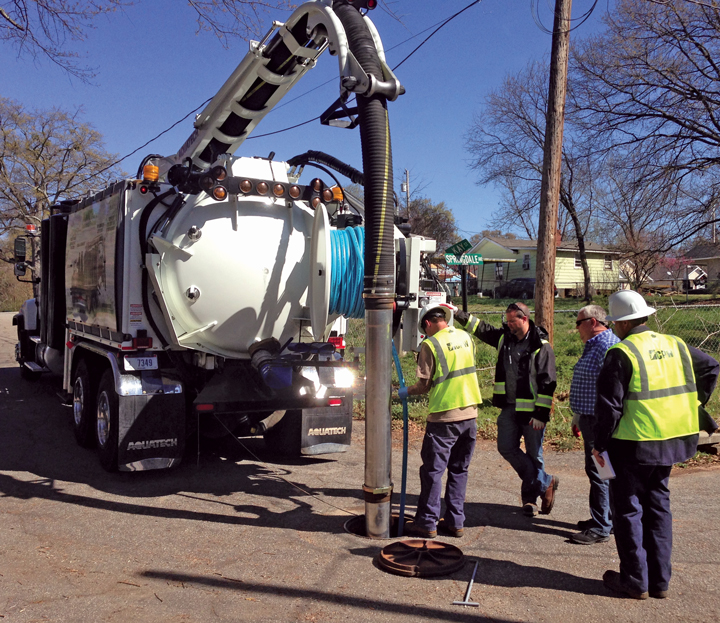Spring Vacuum Sewer Truck Services